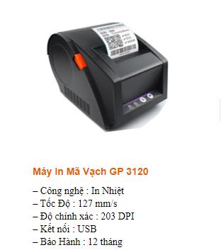 máy in mã vạch XP G3120