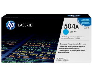 Mực in HP 504A Cyan Laserjet Toner Cartridge (CE251A)
